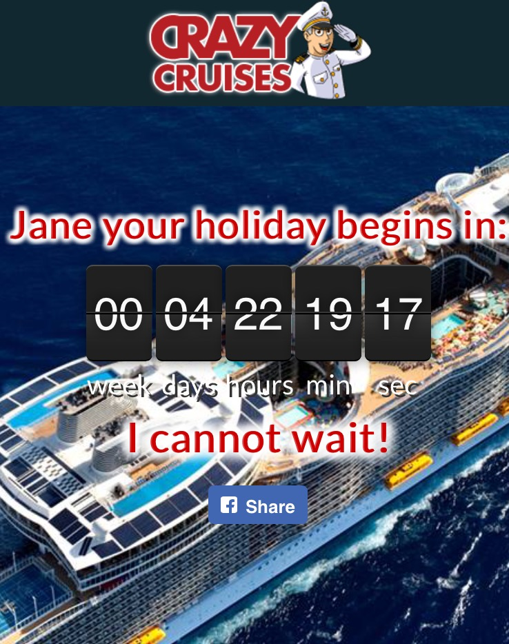cruise countdown clock